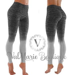 Gradient Gray Active Yoga Pant Leggings